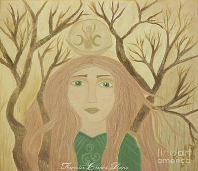 Beige Painting - Brigid Celtic Goddess by Sacred  Muse