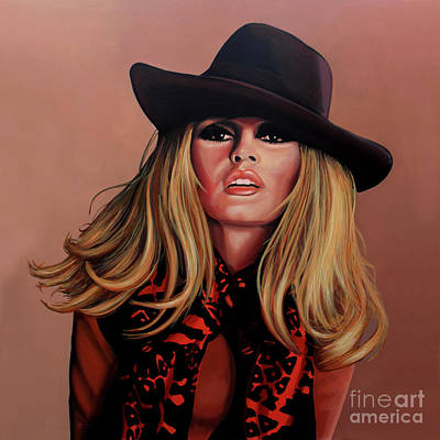 Very Painting - Brigitte Bardot Painting 1 by Paul Meijering