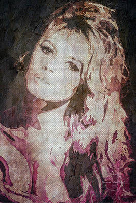 Digital Art - Brigitte Bardot by Absinthe Art By Michelle LeAnn Scott