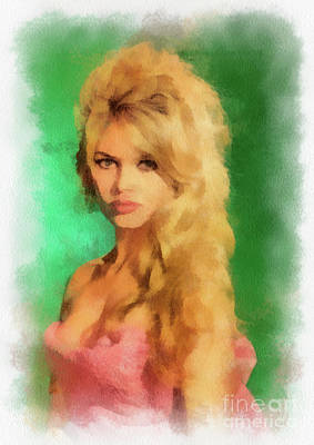 Musician Royalty-Free and Rights-Managed Images - Brigitte Bardot by John Springfield by John Springfield