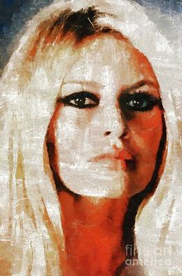 Musician Royalty-Free and Rights-Managed Images - Brigitte Bardot by Mary Bassett by Mary Bassett