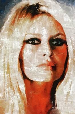 Musicians Royalty Free Images - Brigitte Bardot by Mary Bassett Royalty-Free Image by Mary Bassett