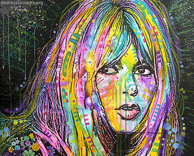 Bardot Painting - Brigitte Bardot Cherokee by Dean Russo