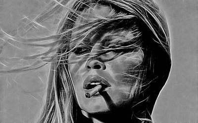 Brigitte Bardot Collection Art Print