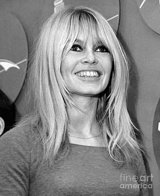 Brigitte Photograph - Brigitte Bardot Is All Smiles. 1965 by William Jacobellis