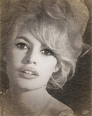 Brigitte Bardot Art Print by Quim Abella