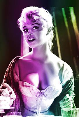 Digital Art - Brigitte Bardot by Joy McKenzie