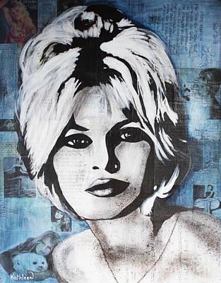 Contemporain Art Painting - Brigitte Bardot La Madrague by Kathleen Artist PRO