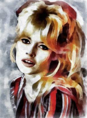Brigitte Bardot Painting - Brigitte Bardot by Sergey Lukashin
