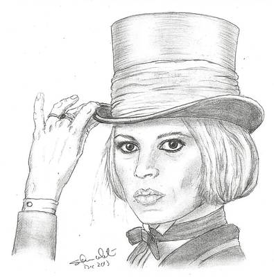 Steven White Drawing - Brigitte Bardot by Steven White