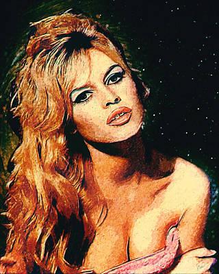Water Droplets Sharon Johnstone - Brigitte Bardot by Zapista OU