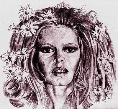Drawing - Brigitte Bardot by Toon De Zwart