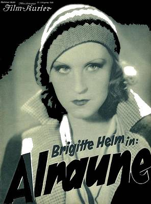 Brigitte Photograph - Brigitte Helm Alraune Theatrical Poster 1929 Color Added 2016 by David Lee Guss