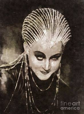 Helm Painting - Brigitte Helm In Metropolis By Mary Bassett by Mary Bassett