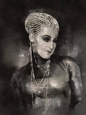 Brigitte Helm In Metropolis Art Print by Mary Bassett
