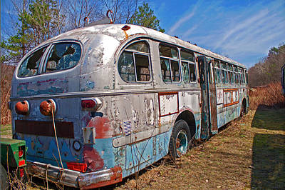 Photograph - Brill Trolley Bus by Michael Porchik