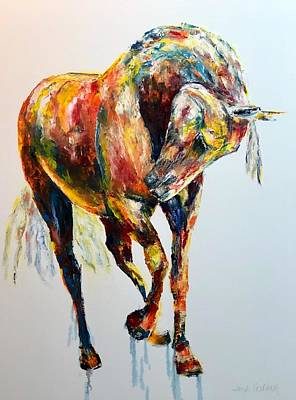 Painting - Brillance Contemporary Horse Painting by Jennifer Godshalk