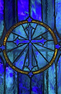 Brillant Blue Art Print