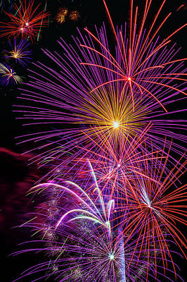 Photograph - Brillant Bright Fireworks by Garry Gay