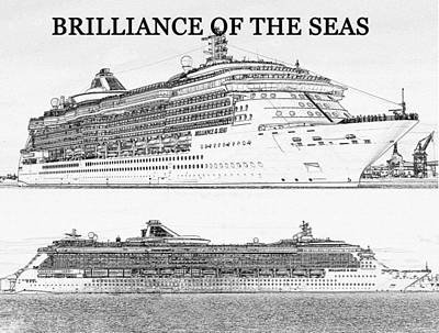 Digital Art - Brilliance Of The Seas Cruise Ship by David Lee Thompson