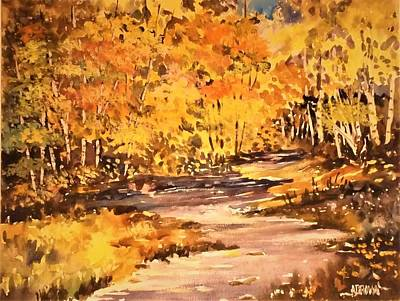 Painting - Brilliant Cluster Of Autumn by Al Brown