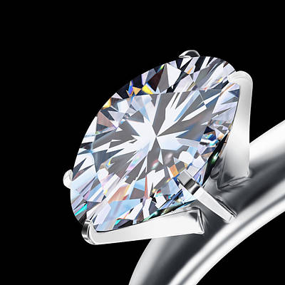 Photograph - Brilliant Cut Diamond by Setsiri Silapasuwanchai