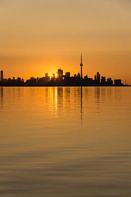 Photograph - Brilliant Golden Yellow Toronto Skyline by Georgia Mizuleva