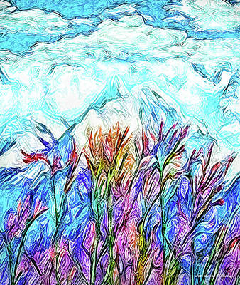 Digital Art - Brilliant Mountain Afternoon by Joel Bruce Wallach