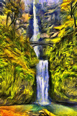 Multnomah Falls Waterfall Photograph - Brilliant Multnomah  by Mark Kiver