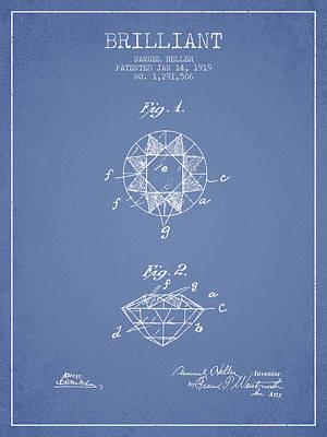 Brilliant Patent From 1919 - Light Blue Art Print