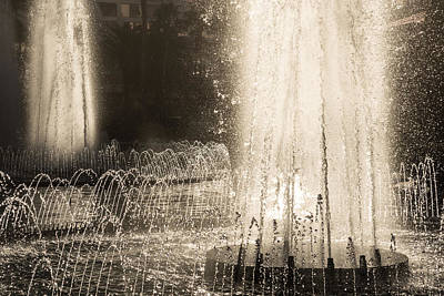 Photograph - Brilliant Silver Fountains Dancing In The Sunshine by Georgia Mizuleva