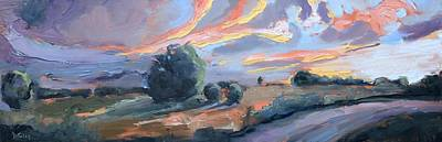 Painting - Brilliant Sky Panoramic Oil Painting by Donna Tuten