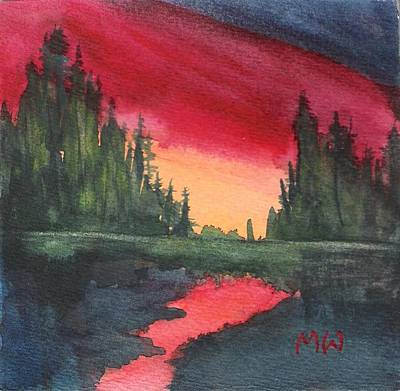 Painting - Brilliant Sundown by Marsha Woods