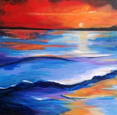 Painting - Brilliant Sundown by Rosie Sherman