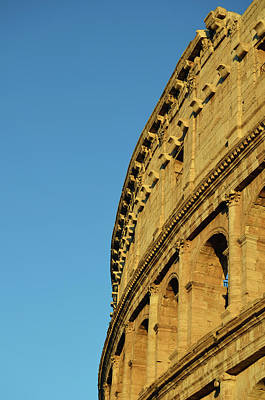 Photograph - Brilliant Sunlit Exterior Of The Roman Colosseum by Shawn O'Brien