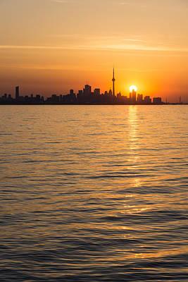 Photograph - Brilliant Sunrise Over Toronto Skyline by Georgia Mizuleva