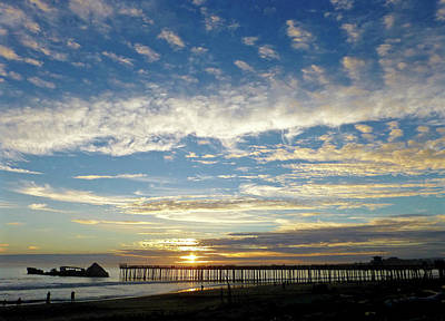 Photograph - Brilliant Sunset Seacliff, Ca by Amelia Racca