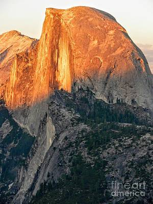 Half Dome Photograph - Brilliant Sunset On Half Dome In Yosemite National Park From Glacier Point by Rincon Road Photography By Ben Petersen