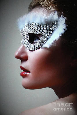 Photograph - Brilliant Venetian Eye Mask by Dimitar Hristov