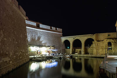 Photograph - Brilliantly Lit Yachtie Lounge At Fort Saint Angelo In Vittoriosa Malta by Georgia Mizuleva