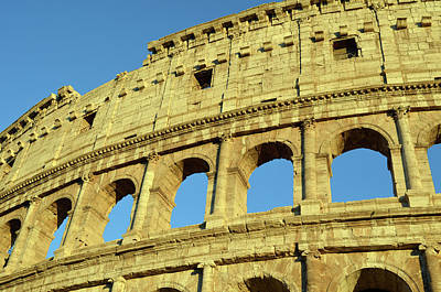 Photograph - Brilliantly Sunlit Exterior Of The Roman Colosseum by Shawn O'Brien