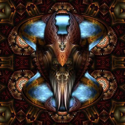 Digital Art - Brimitin Warrior Blue Destiny by Xzendor7