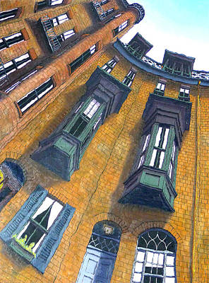Brownstone Painting - Brimmer Street I by Mike Gruber