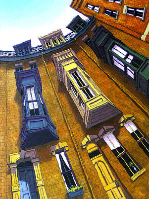 Beacon Hill Painting - Brimmer Street II by Mike Gruber