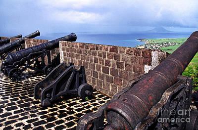 Brimstone Hill Fortress Canons Print by Thomas R Fletcher