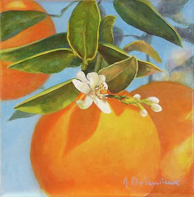 Painting - Brin De Fleur D'oranger by Muriel Dolemieux