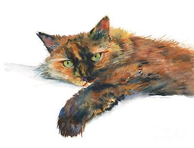 Calico Cat Painting - Brina by Amy Kirkpatrick