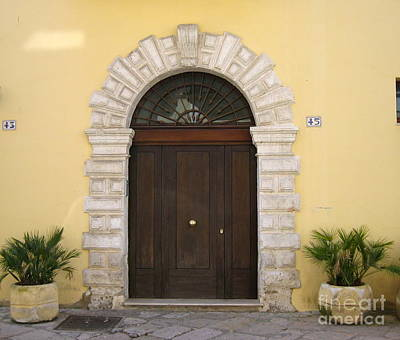 Photograph - Brindisi By The Sea Door by Italian Art