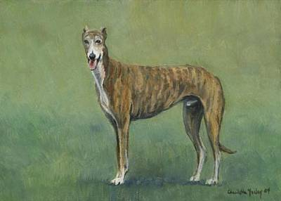 Brindle Greyhound Art Print by Charlotte Yealey
