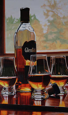 Reflections On Bottle Painting - Bring Enough To Share by Eric Renner